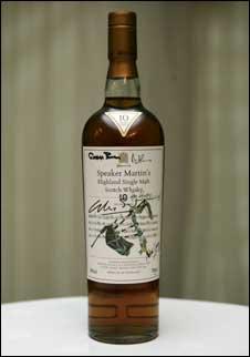 The bottle of Highland Single Malt