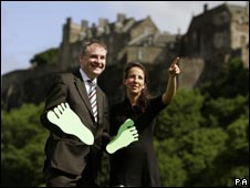 Environment Secretary Richard Lochhead and Rachel Nunn from GCNS