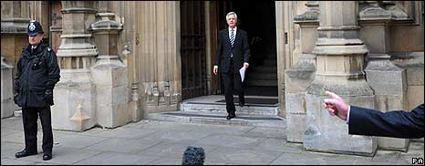 David Davis outside Parliament