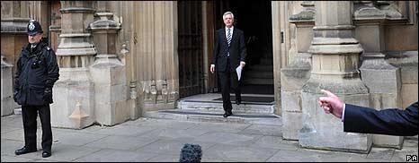 David Davis outside Parliament