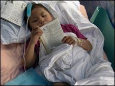 Earthquake victim
