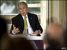 George Bush speaks to entrepreneurs at the American Academy in Rome (12 June 2008)