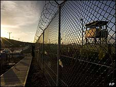 Guantanamo's Camp Delta detention compound on 6 June