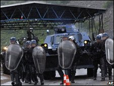French police working for Nato in Kosovo