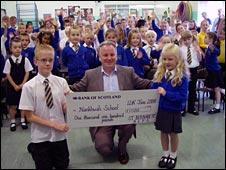 Jack McConnell at St Bernadette's Primary School in Tullibody