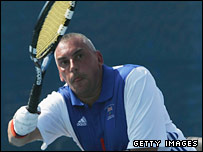 Wheelchair tennis player Peter Norfolk