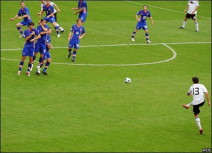 Ballack fires in a free-kick