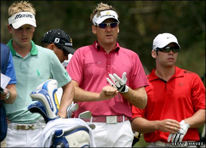 Luke Donald (left), Ian Poulter (centre) and Paul Casey (right)