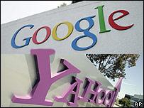 Logos de Google y Yahoo