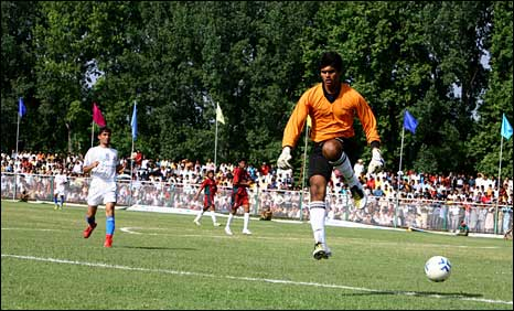 Football match in Srinagar