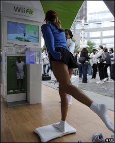 Wii fit launch, AFP/Getty