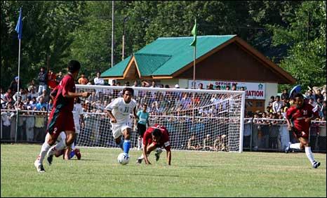 A football match in Kashmir