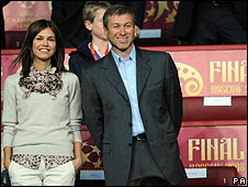 The couple at the Luzhniki Stadium