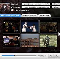 MySpace screen grab