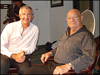 Angelo Dundee (on right) with Rob Bonnet