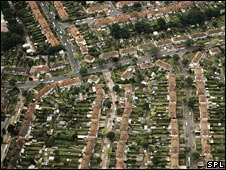 Sprawling suburbia in London