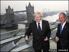 Boris Johnson shows off London to Michael Bloomberg