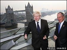 Boris Johnson shows off London to Michael Bloomberg