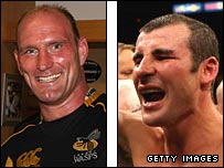 Lawrence Dallaglio and Joe Calzaghe