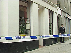 Mumutaz Restaurant after the shooting in 1994