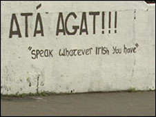 Irish language graffiti