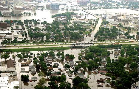 A view of central Cedar Rapids, Iowa