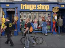 Edinburgh fringe shop on royal mile