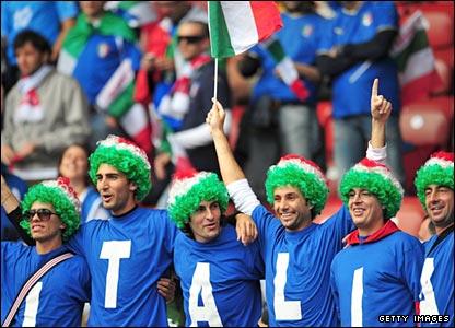 Italy fans in Zurich