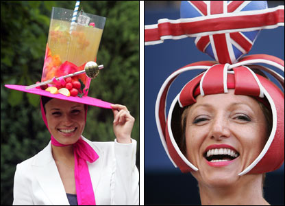 Some of the more imaginative hats on display at Royal Ascot