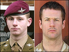 Private Jeff Doherty and Lance Corporal James Bateman