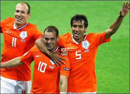 Wesley Sneijder celebrates