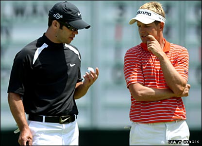 Paul Casey (left) and Luke Donald