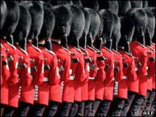 Soldiers at Trooping the Colour