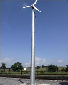 Wind turbine at Locomotion