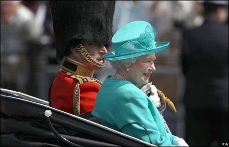 The Queen and Duke of Edinburgh at Trooping the Colour