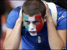 Italian fan after 1-1 draw with Romania on Friday