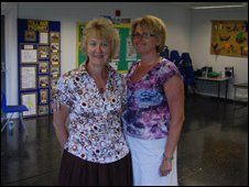 Deputy head Sue Clarke [left] and head teacher Jill Northwood