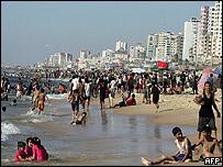 Playa en la Franja de Gaza