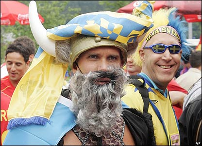 Sweden fans arrive at the stadium