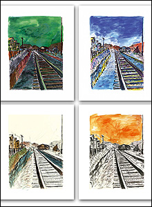 Train Track portfolio  (Copyright Bob Dylan 2008)
