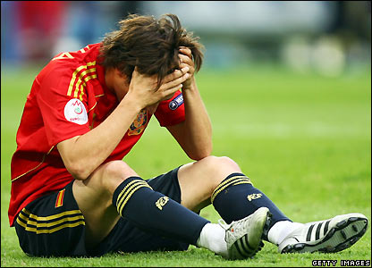 Silva shows his disappointment