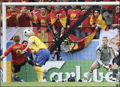 Torres gives Spain the lead
