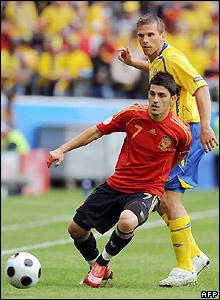 Villa makes a pass