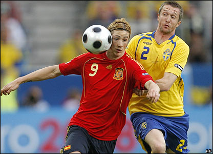 Torres and Mikael Nilsson