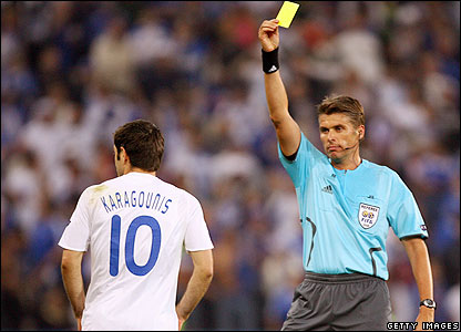 Karagounis gets booked