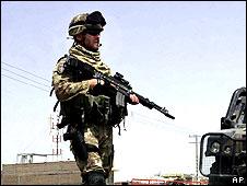 Italian soldier in Afghanistan