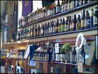 Beer bottles on Bar
