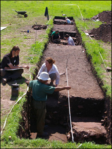 Excavation work. Photo: Cardiff university