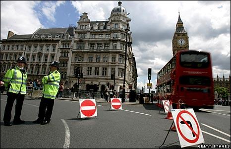 Police presence London