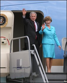 George and Laura Bush have a number of engagements in Northern Ireland